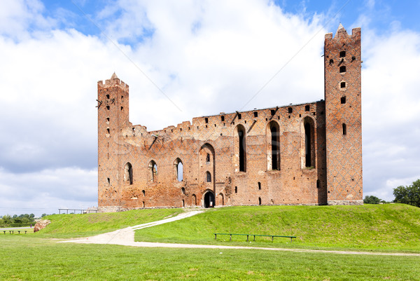 Stock photo: ruins of castle in Radzyn Chelminski, Kuyavia-Pomerania, Poland