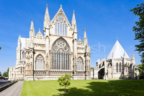 cathedral of Lincoln, East Midlands, England Stock photo © phbcz