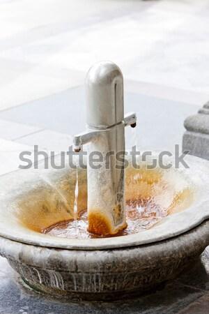 boiling spring in Mlynska Colonnade, Karlovy Vary (Carlsbad), Cz Stock photo © phbcz