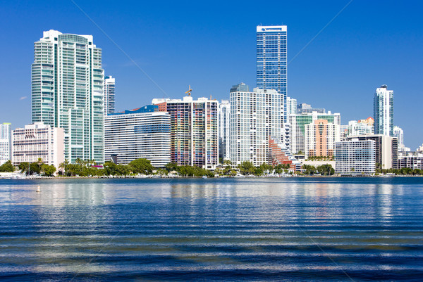 Stockfoto: Centrum · Miami · Florida · USA · zee · gebouwen