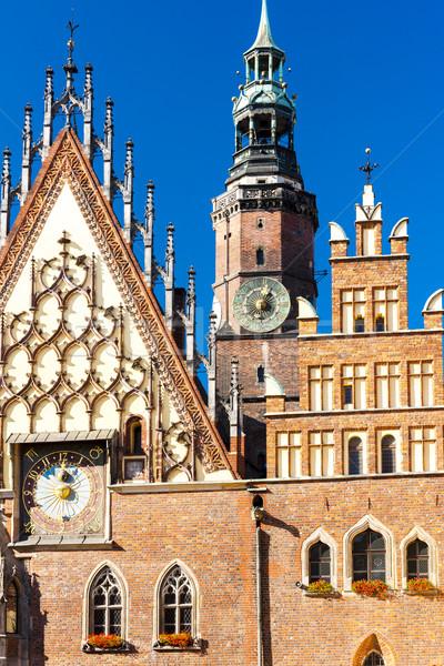 Town Hall on Main Market Square, Wroclaw, Silesia, Poland Stock photo © phbcz