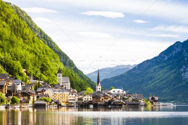 オーストリア 水 建物 教会 旅行 山 ストックフォト © phbcz