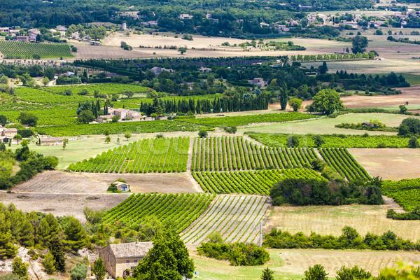 Afdeling Frankrijk landschap reizen plant Europa Stockfoto © phbcz