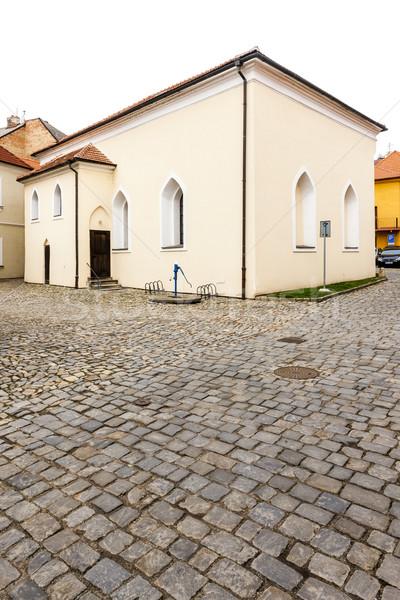 Synagoge kwartaal Tsjechische Republiek kerk reizen Stockfoto © phbcz
