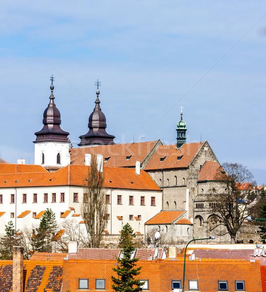 Stock fotó: Bazilika · Csehország · ház · épület · utazás · kastély