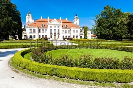 Palota Lengyelország kert kastély építészet növény Stock fotó © phbcz