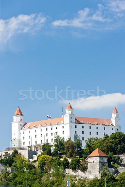 Bratislava castelo Eslováquia cidade arquitetura história Foto stock © phbcz
