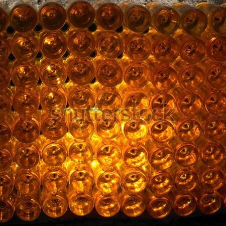 wine archive, wine cellar, Eko Hnizdo, Chvalovice, Czech Republi Stock photo © phbcz