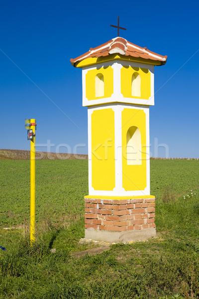 column of the Crucifixion near Strachotin, Czech Republic Stock photo © phbcz