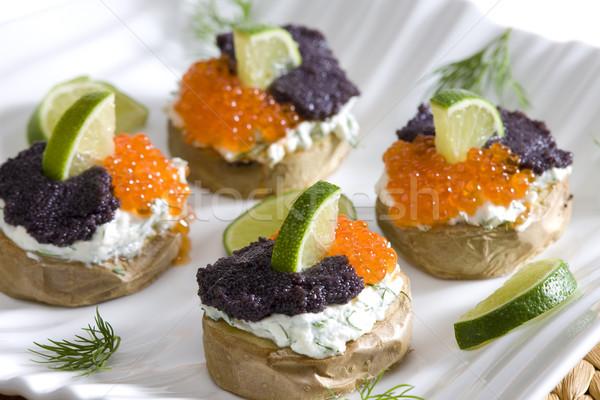 Ziemniaki kawior żywności wapno ziemniaczanej Zdjęcia stock © phbcz