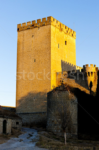 Castle of Ampudia, Castile and Leon, Spain Stock photo © phbcz