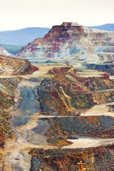 Foto stock: Cobre · mina · España · paisaje · escalera