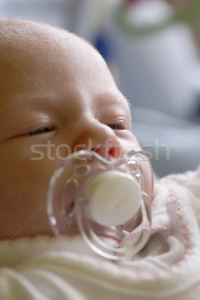 one month old baby Stock photo © phbcz