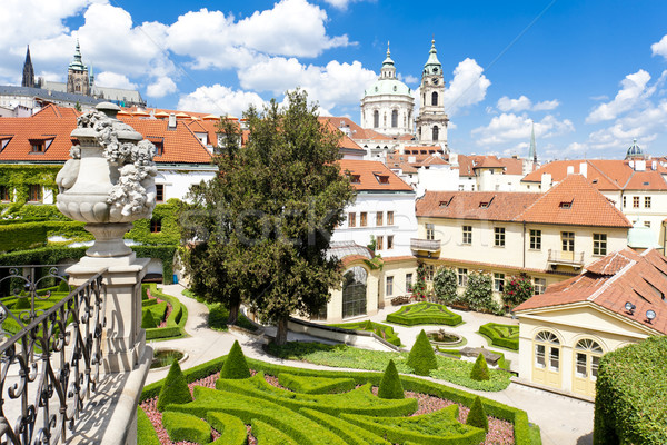 Vrtbovska Garden and Saint Nicholas Church, Prague, Czech Republ Stock photo © phbcz