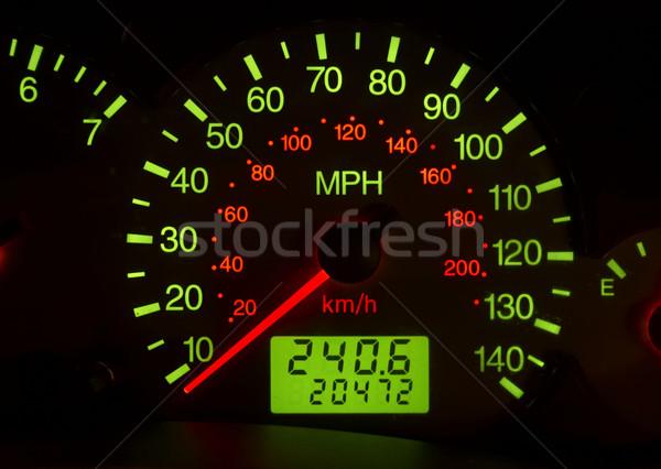 Autó szállítás autó tárgy sebességmérő közelkép Stock fotó © phbcz