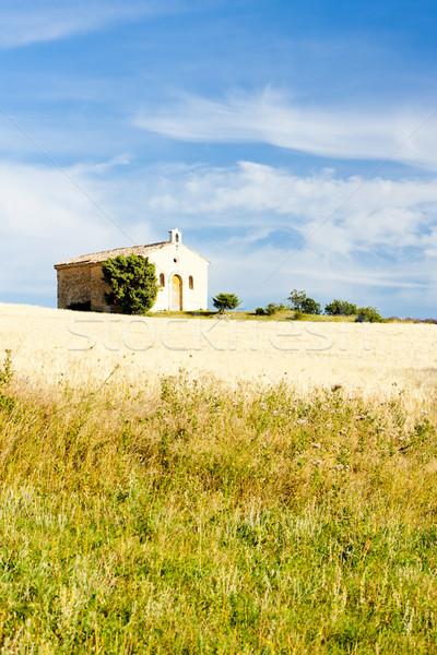 Capela grão campo planalto França igreja Foto stock © phbcz