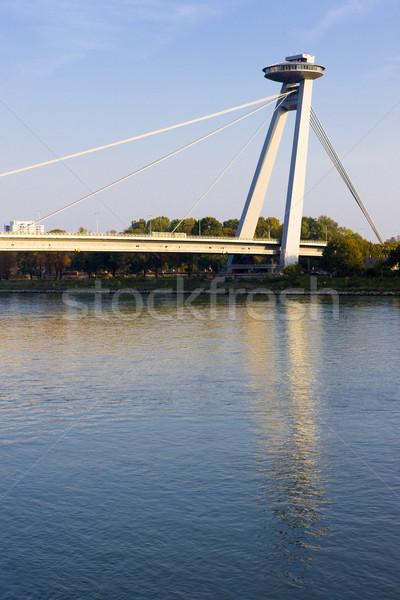 Nouvelle pont Bratislava Slovaquie Voyage bâtiments Photo stock © phbcz