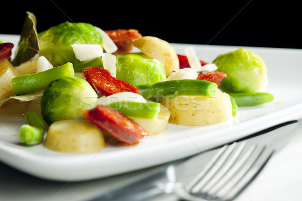 vegetables mixture with sausage and potatoes Stock photo © phbcz