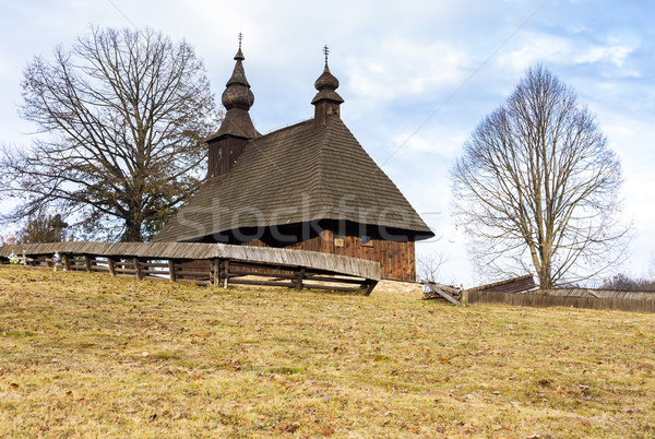 wooden church, Hrabova Roztoka, Slovakia Stock photo © phbcz
