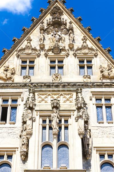 Detail steen huis Tsjechische Republiek gebouw reizen Stockfoto © phbcz
