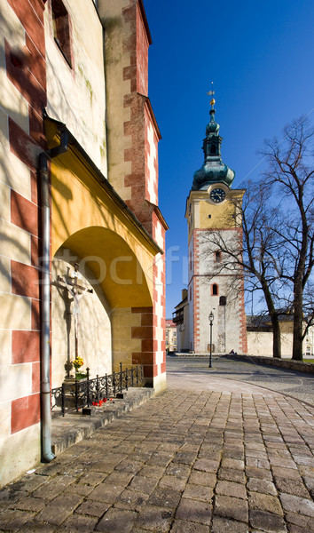 Словакия здании архитектура башни города Открытый Сток-фото © phbcz