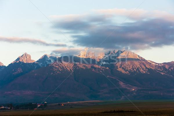 ピーク 高い 風景 ヨーロッパ パノラマ 沈黙 ストックフォト © phbcz