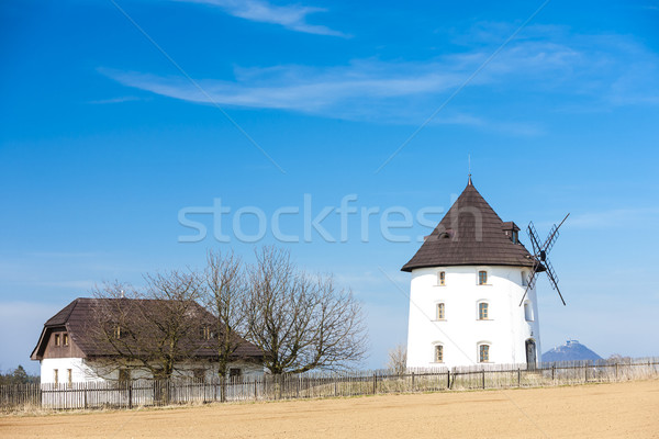 Foto stock: Moinho · de · vento · República · Checa · arquitetura · país · ao · ar · livre · fora