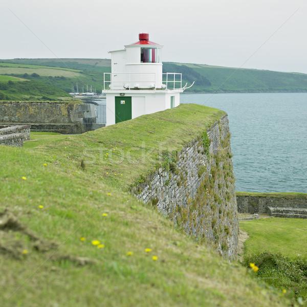 Faro fort sughero Irlanda costruzione luce Foto d'archivio © phbcz