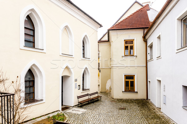 Synagoge kwartaal Tsjechische Republiek huis kerk Stockfoto © phbcz