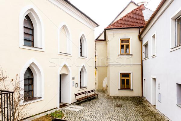 Sinagoga trimestre República Checa casa igreja Foto stock © phbcz