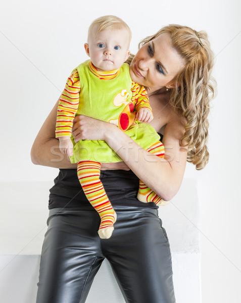 Portre anne aile sevmek kadın Stok fotoğraf © phbcz