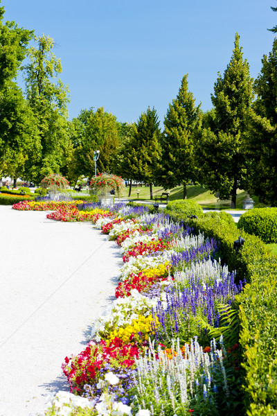 garden of Grassalkovich Palace, Bratislava, Slovakia Stock photo © phbcz