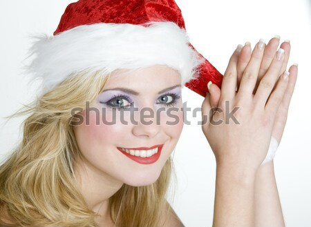 Santa Claus with a bell Stock photo © phbcz