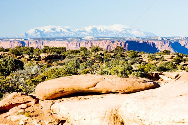 Park Utah USA tájkép hegyek kövek Stock fotó © phbcz