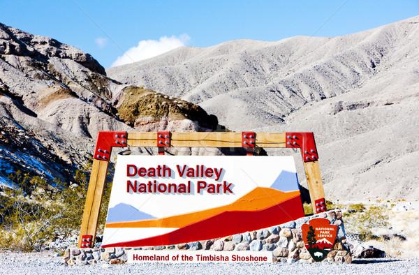 Сток-фото: вход · смерти · долины · парка · Калифорния · США