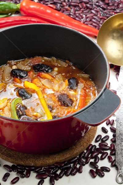 Mexican bean soup Stock photo © phbcz
