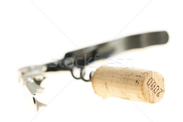 Sacacorchos corcho objeto dentro interiores naturaleza muerta Foto stock © phbcz