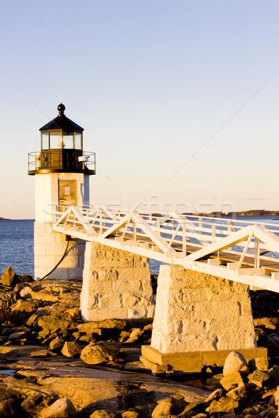 Punt vuurtoren Maine USA veiligheid reizen Stockfoto © phbcz