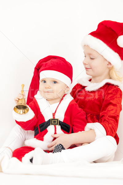 Deux cloche enfant Kid Photo stock © phbcz