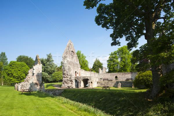Ruínas abadia escócia edifício arquitetura Foto stock © phbcz