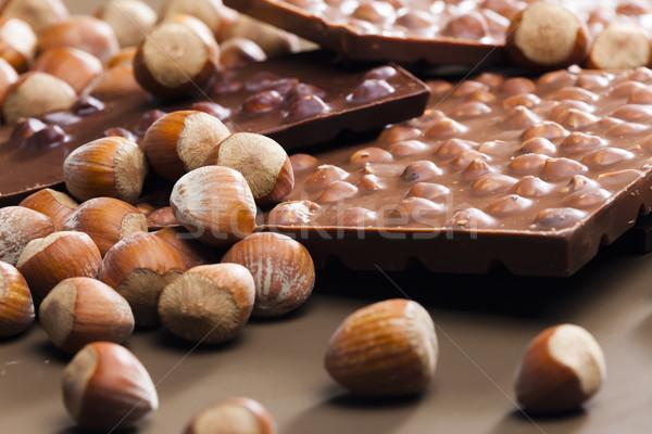 Chocolate barras doce dentro muitos Foto stock © phbcz