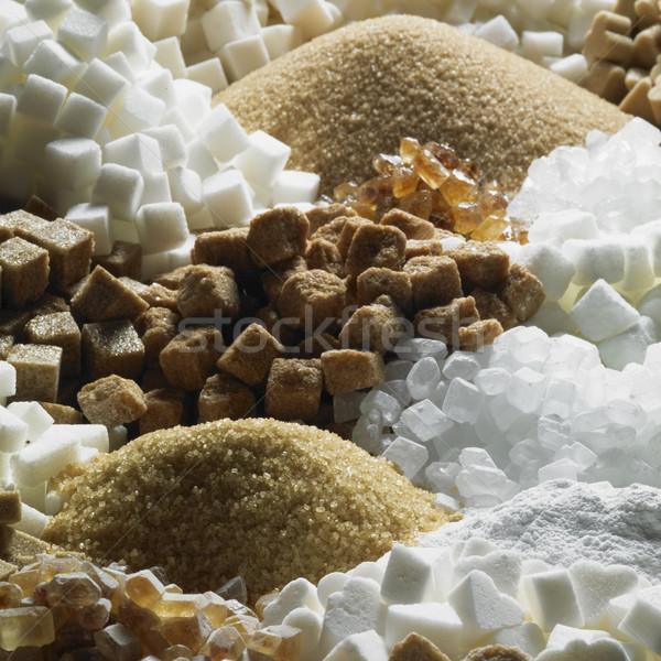 Cukor csendélet étel cukorka belső hátterek Stock fotó © phbcz