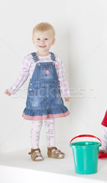 small girl with a bucket Stock photo © phbcz