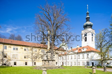 Palais jardin République tchèque bâtiment architecture usine Photo stock © phbcz