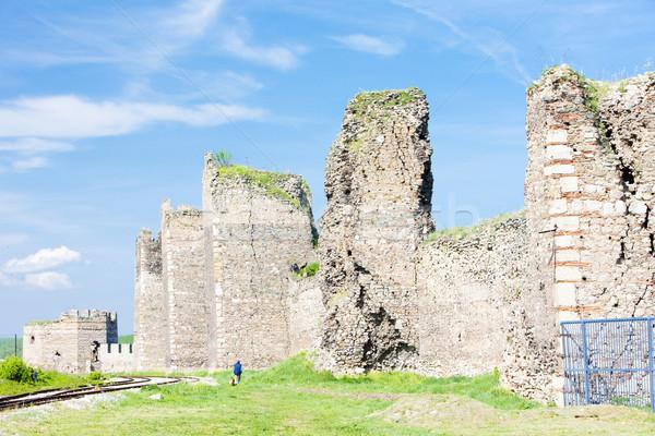 Erőd Szerbia kastély építészet romok kint Stock fotó © phbcz