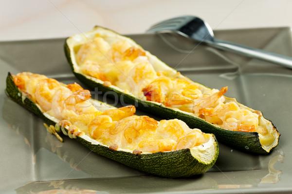 Abobrinha vegetal refeição prato Foto stock © phbcz