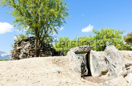Túmulo la Espanha viajar pedra antigo Foto stock © phbcz