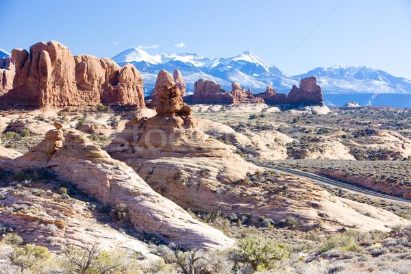 Park LA hegyek Utah USA tájkép Stock fotó © phbcz