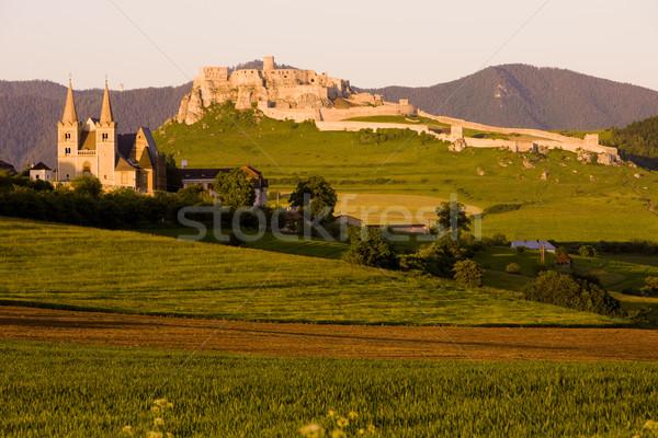 Castillo Eslovaquia capítulo edificio arquitectura historia Foto stock © phbcz