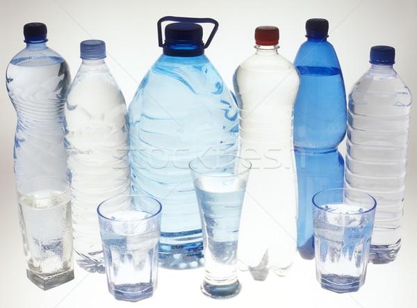 воды натюрморт стекла пить пластиковых бутылок Сток-фото © phbcz